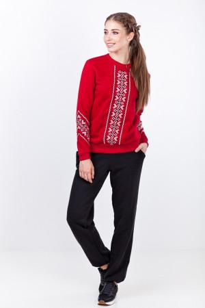 Свитшот женский «Русана» красного цвета