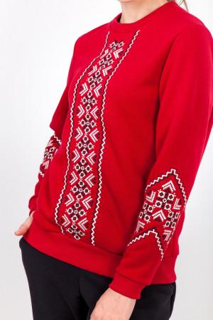Світшот жіночий «Русана» червоного кольору