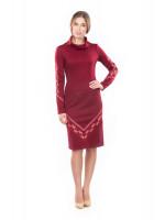 Платье «Любомила» бордового цвета