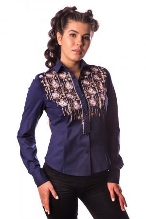 Блуза «Зара» темно-синього кольору