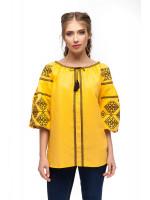 Вишиванка «Світодара» жовтого кольору