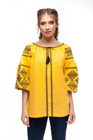 Вышиванка «Светодара» желтого цвета