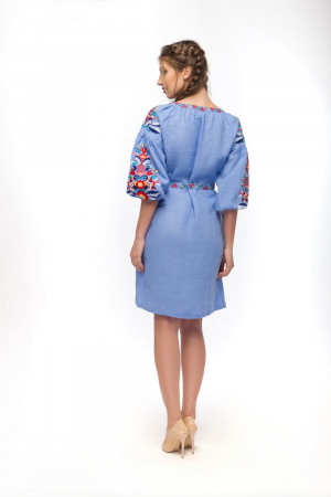 Платье «Сона» голубого цвета
