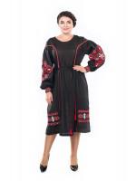 Платье «Бояна» черного цвета