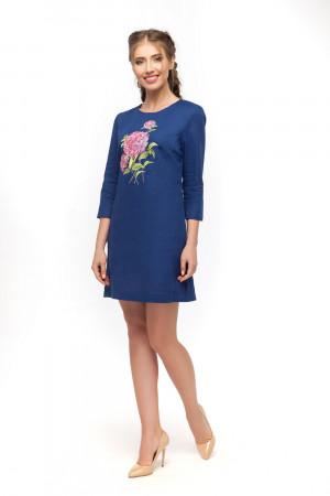 Платье «Гортензия» синего цвета
