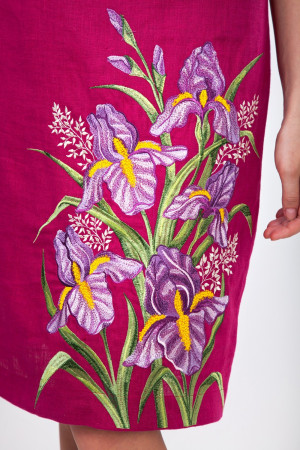 Сукня «Іриси» кольору фуксії