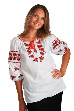 Вышиванка «Ружа» белого цвета, КР