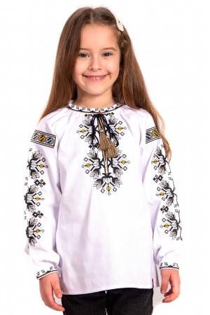 Вышиванка для девочки «Деля» белого цвета