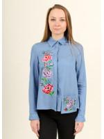 Блуза «Весняна радість» блакитного кольору