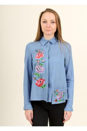Блуза «Весенняя радость» голубого цвета