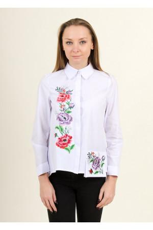 Блуза «Весенняя радость» белого цвета