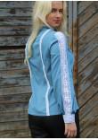 Блуза «Мережка» блакитного кольору
