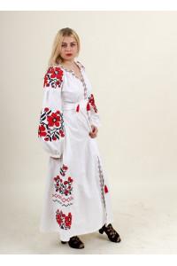 Сукня «Паризький букет» з червоно-чорним орнаментом