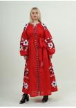 Сукня «Паризький букет» червоного кольору