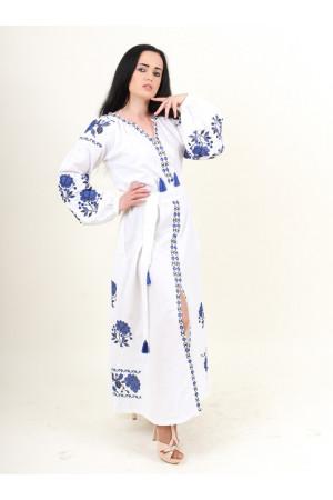 Сукня «Паризька троянда» з волошковим орнаментом