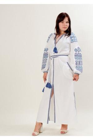 Сукня «Злата» з блакитним орнаментом
