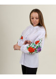 Вишиванка «Квіткова симфонія» білого кольору