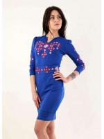 Платье «Славяночка» цвета электрик