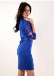 Сукня «Слов'яночка» кольору електрик