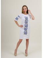 Сукня «Пишна ружа» білого кольору