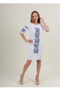 Платье «Пышная ружа» белого цвета