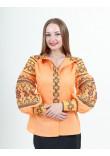 Вишиванка «Панна» світло-мандаринового кольору