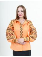 Вышиванка «Панна» светло-мандаринового цвета