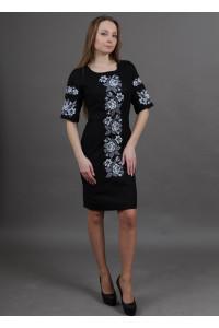 Платье «Пышная ружа» черного цвета