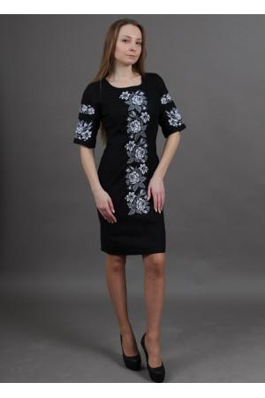 Сукня «Пишна ружа» чорного кольору