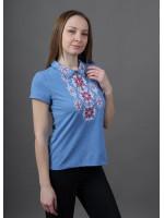 Футболка «Людмила» блакитного кольору