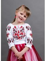 Вышиванка для девочки «Иванычка» с красно-черной вышивкой