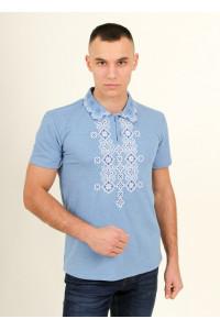 Мужская футболка «Романтика» голубого цвета