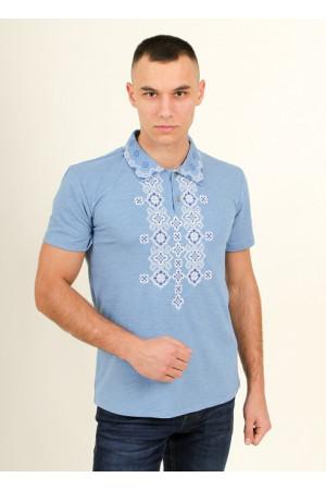 Чоловіча футболка «Романтика» блакитного кольору