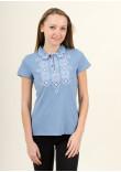 Жіноча футболка «Романтика» блакитного кольору