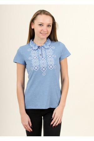 Женская футболка «Романтика» голубого цвета