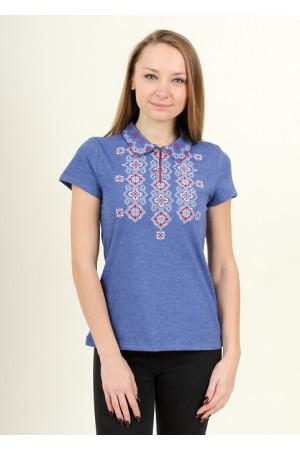 Женская футболка «Романтика» цвета джинс