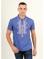 Мужская футболка «Романтика» цвета джинс
