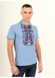 Чоловіча футболка «Ватра» блакитного кольору