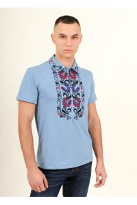 Мужская футболка «Ватра» голубого цвета