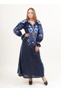 Платье «Лыбидь» темно-синего цвета