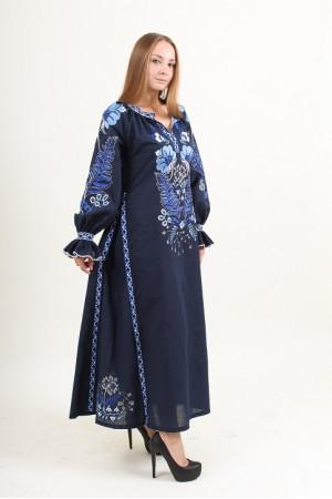 Сукня «Либідь» темно-синього кольору