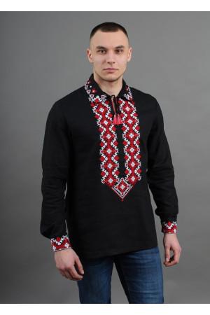 Вышиванка «Вогнедар» черного цвета