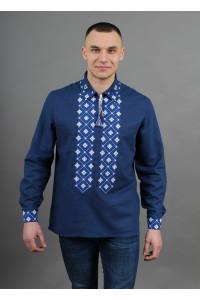 Вышиванка «Синевир» темно-синего цвета