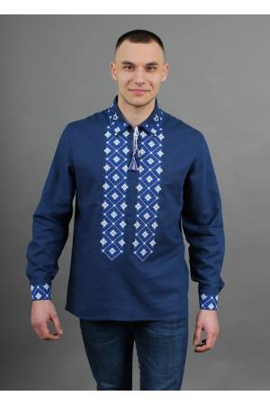 Вишиванка «Синевир» темно-синього кольору
