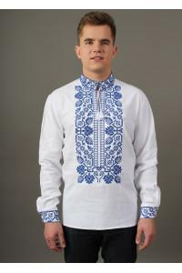 Вишиванка «Всеволод» з синьою вишивкою