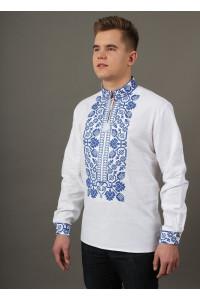 Вышиванка «Всеволод» с синей вышивкой