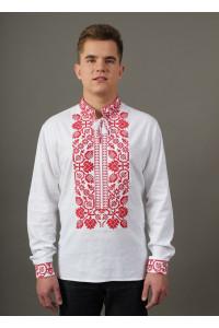 Вишиванка «Всеволод» з червоною вишивкою