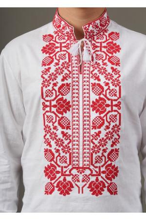 Вышиванка «Всеволод» с красной вышивкой