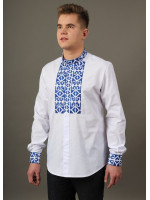 Вишиванка «Легінь» з синьою вишивкою