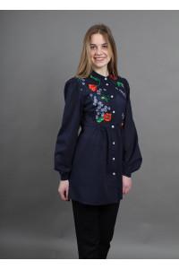 Блуза «Квітень» темно-синього кольору